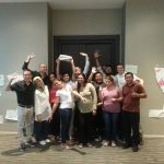 Training group of International Labour Organisation Better Work project staff