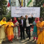 With the Director-General of Labour at Bangladesh Conciliation training
