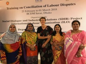 With the 'Sari Sisters' at Bangladesh Conciliation training